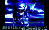 Terminator 2: Judgment Day Amstrad CPC Title screen
