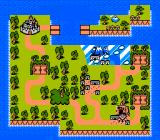 The Flintstones: The Rescue of Dino & Hoppy NES The overworld map - jungles, cities and basketball courts galore