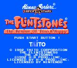 The Flintstones: The Rescue of Dino & Hoppy NES The title screen