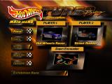 Hot Wheels: Turbo Racing Nintendo 64 Main menu.