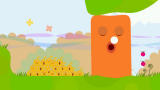 LocoRoco PSP If you have enough LocoRoco, you'll be able to wake this fellow up with a song