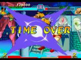 Marvel vs. Capcom: Clash of Super Heroes PlayStation The time is out, but Wolverine still could connect his Fatal Claw hyper combo in Zangief!
