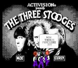 The Three Stooges NES Title screen
