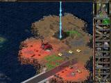 Command & Conquer: Tiberian Sun Windows Shooting with the Ion Cannon at the NOD pyramid.