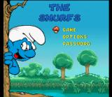 The Smurfs SNES Title screen / Main menu.