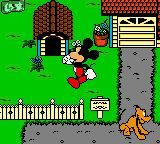 Mickey's Racing Adventure Game Boy Color Mickey is in front of Pluto's doghouse
