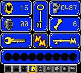 Mickey's Racing Adventure Game Boy Color Inventory - track your pennies, Disney Dollars, race powerups, keys and other stuff here