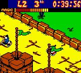 Mickey's Racing Adventure Game Boy Color Here Mickey is racing on the top of a castle against Pete's friends