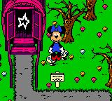 Mickey's Racing Adventure Game Boy Color Minnie is outside Magica De Spell's caravan - Magica can provide new race powerups