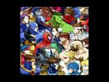 Marvel vs. Capcom: Clash of Super Heroes PlayStation Gallery Mode picture showing part of the game cast in a head-to-head meeting...