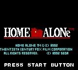 Home Alone Game Gear Title screen