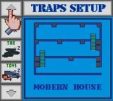 Home Alone Game Gear When you enter a house, you can set traps