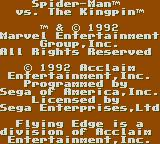 Spider-Man Game Gear Disclaimer, blah, blah, blah