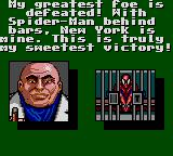 Spider-Man Game Gear You have lost. The Kingpin has won. Game over. No more screenshots. This is a tragedy