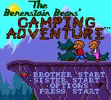 The Berenstain Bears' Camping Adventure Game Gear Title screen