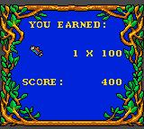 The Berenstain Bears' Camping Adventure Game Gear Level completed