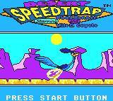 Desert Speedtrap starring Road Runner and Wile E. Coyote Game Gear Title screen