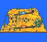 Desert Speedtrap starring Road Runner and Wile E. Coyote Game Gear World map