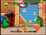 Rakugakids Nintendo 64 Mamezo's special is calling for a pizza, which causes a motorbike to run the opponent over