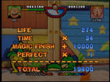 Rakugakids Nintendo 64 A 10000 point bonus for using Magic to finish off BearTank
