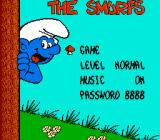 The Smurfs NES Title screen & options menu together