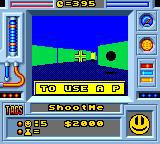 Faceball 2000 Game Gear The game gives you some advices...