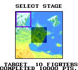 G-Loc: Air Battle Game Gear Select your stage