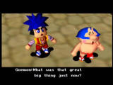 Mystical Ninja Starring Goemon Nintendo 64 Goemon and Ebisumaru spot a giant peach flying through the air