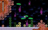 Mega Man 3: The Robots are Revolting DOS Underwater exploring in Shark Man's stage