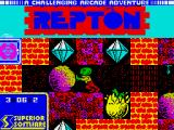 Repton Mania ZX Spectrum The loading screen