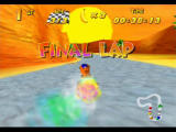 Diddy Kong Racing Nintendo 64 Let go of A as you use a boost, and you'll get a more powerful boost!