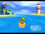 Diddy Kong Racing Nintendo 64 Krunch spies Sherbet Island and the mysterious lighthouse