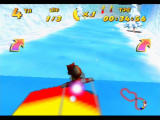Diddy Kong Racing Nintendo 64 The plane can also use ground turbos if you hug the ground