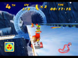 Diddy Kong Racing Nintendo 64 The loop-the-loop in Walrus Cove loops the upper track