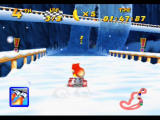 Diddy Kong Racing Nintendo 64 Driving on the loop-the-loop will automatically boost you through it
