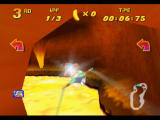 Diddy Kong Racing Nintendo 64 Hot Top Volcano is full of dangerous lava