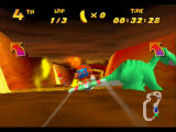 Diddy Kong Racing Nintendo 64 The dinosaur here moves and can block your path