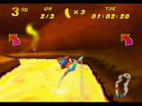 Diddy Kong Racing Nintendo 64 Steam occasionally rises from the lava as you fly through