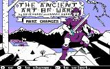The Ancient Art of War DOS Main Screen