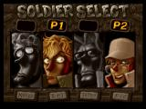 Metal Slug X PlayStation Character selection