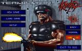 The Terminator: Rampage DOS Title and Main Menu screen...
