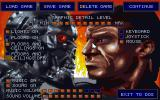 The Terminator: Rampage DOS Setup screen...