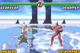 Mortal Kombat: Tournament Edition Game Boy Advance Scorpion attacks Drahmin with his spear-based move: the end result is favorable to the ninja...