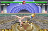 Mortal Kombat: Tournament Edition Game Boy Advance Vulnerable for a fast moment, Johnny Cage was easily struck by Sareena's Flip Kick move!