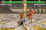 Mortal Kombat: Tournament Edition Game Boy Advance Johnny Cage executing the last hit of his Slide Uppercut move in Shang Tsung.