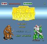 Space Harrier TurboGrafx-16 Title screen (Japan)