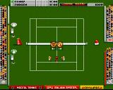 Mikro Mortal Tennis Amiga Drawing the opening serve