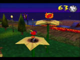 Rocket: Robot on Wheels Nintendo 64 A ticket is placed on top of a giant flower