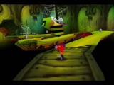 Rocket: Robot on Wheels Nintendo 64 The bee here will knock Rocket into the pit if he's not careful