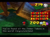 Rocket: Robot on Wheels Nintendo 64 Once you collect all the Tinker Tokens, you'll get the world's final ticket
